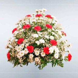 Envío de Centro de flores Boreal a cualquier tanatorio de Madrid y Toledo