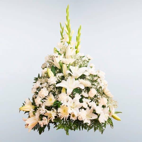 Envío de Centro de flores Libra a todos los tanatorios de Madrid y Toledo