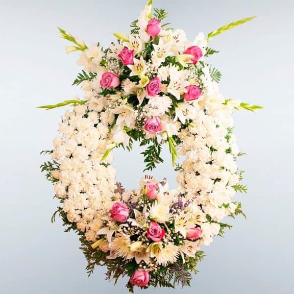 Envío de Corona de flores Delta a todos los tanatorios de Madrid y Toledo