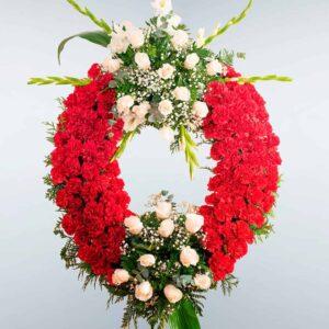 Envío de Corona de flores Hércules con envío a todos los tanatorios de Madrid y Toledo