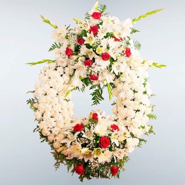 Enviar Corona de flores Gamma a cualquier tanatorio de Toledo y Madrid