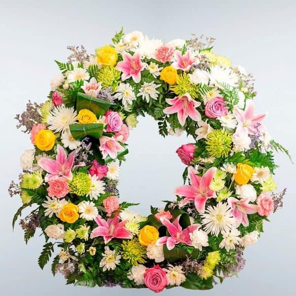 Enviar corona de flores Hasta Siempre a cualquier tanatorio de Madrid o Toledo